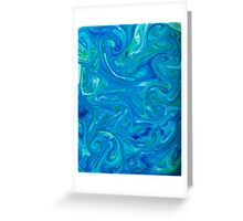 Watercolour abstract Swirl ,blue,green Greeting Card