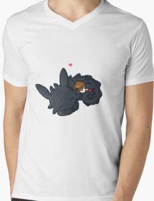 Toothless Hug Mens V-Neck T-Shirt