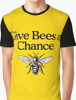 Give Bees A Chance Beekeeper Quote Design Graphic T-Shirt