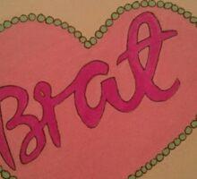 Barbie Brat Heart Sticker