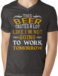 Beer Tastes Mens V-Neck T-Shirt
