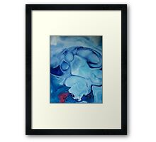 Watercolour abstract Swirl ,blue Framed Print