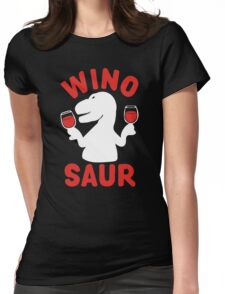 Wine Winosaur Dinosaur Womens Fitted T-Shirt