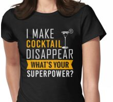 Cocktail disappear Womens Fitted T-Shirt