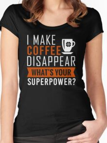 Coffee Disappear Women's Fitted Scoop T-Shirt