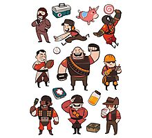 Team Fortress 2 / RED All Class Photographic Print