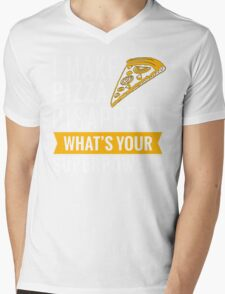 Pizza disappear Mens V-Neck T-Shirt