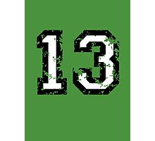 Number Thirteen - No. 13 (two-color) white Photographic Print