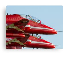 Red Arrows - close formation Canvas Print