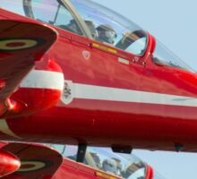 Red Arrows - close formation Sticker