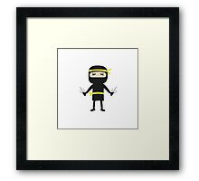 ninja with weapon Framed Print