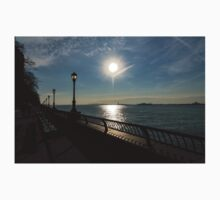 Brilliant Sunny Walk on the Esplanade - Hudson River, Manhattan, New York City, USA Kids Tee