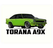 Holden Torana - A9X Hatchback - Green Art Print