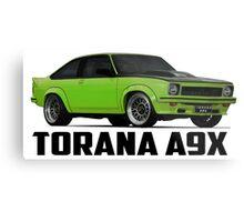 Holden Torana - A9X Hatchback - Green Metal Print
