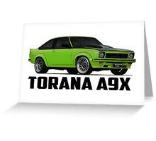 Holden Torana - A9X Hatchback - Green Greeting Card