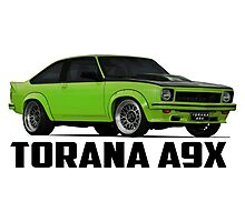 Holden Torana - A9X Hatchback - Green Photographic Print