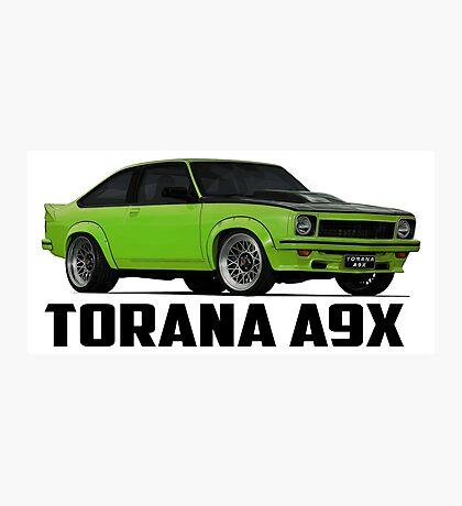 Holden Torana - A9X Hatchback - Green Photographic Print