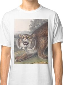 John James Audubon - Lynx rufus. Guldenstaed. Common American Wild Cat. 3-4   Male.1842 Classic T-Shirt