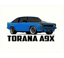 Holden Torana - A9X Hatchback - Blue Art Print