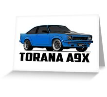 Holden Torana - A9X Hatchback - Blue Greeting Card