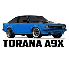 Holden Torana - A9X Hatchback - Blue Photographic Print