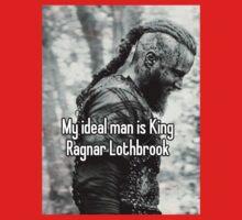 vikings king ragnar lodbrok Kids Tee