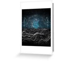 Black & Blue Tech Greeting Card