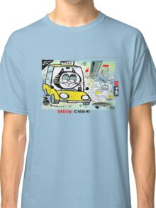 Cartoon of tabby cat driving New York taxi Classic T-Shirt