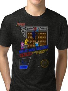NINTENDO: NES ADVENTURE TIME  Tri-blend T-Shirt