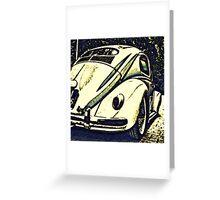 Oval bug Greeting Card