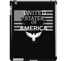 United States of America Flag US patriot Proud Black iPad Case/Skin