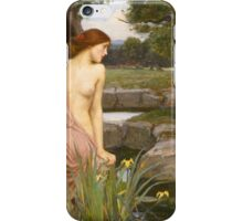 John William Waterhouse - Echo and Narcissus 1903 . Love , Romance iPhone Case/Skin