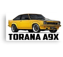 Holden Torana - A9X Hatchback - Yellow Canvas Print