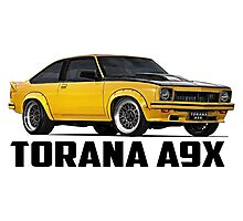 Holden Torana - A9X Hatchback - Yellow Photographic Print