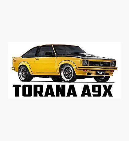 Holden Torana - A9X Hatchback - Yellow Photographic Print