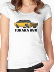 Holden Torana - A9X Hatchback - Yellow Women's Fitted Scoop T-Shirt