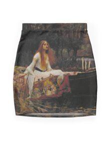 John William Waterhouse - The Lady of Shalott 1888 . Woman Portrait  Mini Skirt