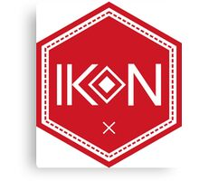Ikon Red Logo Tshirt Canvas Print