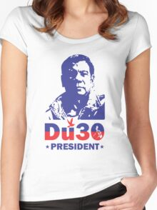 Tatak Pinoy Political Design Women's Fitted Scoop T-Shirt
