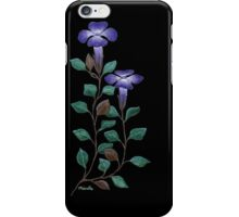 Brunoniella australis on Black by Ménelle Gale iPhone Case/Skin