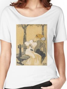 Juan Gris - Man and Woman on Bench 1908-1909 . Romance Women's Relaxed Fit T-Shirt