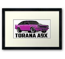 Holden Torana - A9X Hatchback - Pink Framed Print