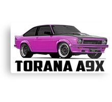 Holden Torana - A9X Hatchback - Pink Metal Print
