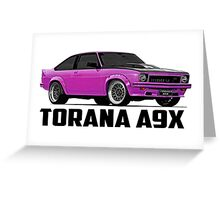 Holden Torana - A9X Hatchback - Pink Greeting Card