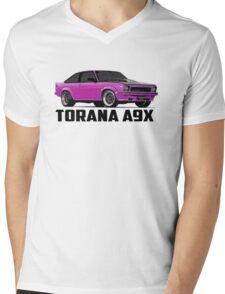 Holden Torana - A9X Hatchback - Pink Mens V-Neck T-Shirt