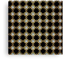 Geometry gold grid texture. Vintage style texture. Canvas Print