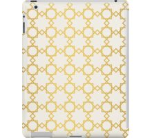Geometry gold grid texture. Vintage style texture. iPad Case/Skin