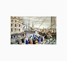 Destruction of tea at Boston Harbor - 1846 - Currier & Ives Unisex T-Shirt
