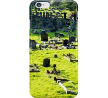 Graveyard With Old Weathered Gravestones iPhone Case/Skin