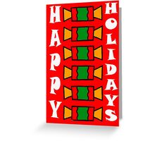 HAPPY HOLIDAYS 7 Greeting Card